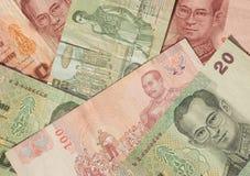 Priorità bassa della banconota della Tailandia Immagine Stock