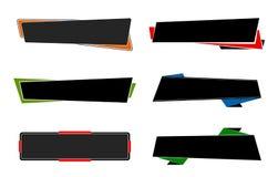Priorità bassa della bandiera Set Immagine Stock Libera da Diritti