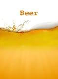 Priorità bassa della birra Immagine Stock