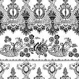 Priorità bassa della Boemia zingaresca floreale di stile illustrazione di stock