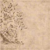 Priorità bassa della Boemia zingaresca floreale di stile royalty illustrazione gratis