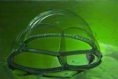 Priorità bassa della bolla di sapone verde Fotografie Stock