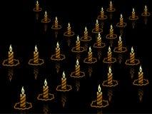 Priorità bassa della candela Fotografia Stock
