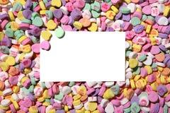 Priorità bassa della caramella del cuore dei biglietti di S. Valentino Fotografia Stock Libera da Diritti