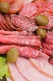 Priorità bassa della carne delle specialità gastronomiche Immagini Stock Libere da Diritti