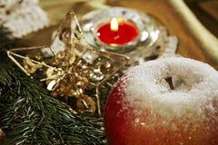 Priorità bassa della cartolina di Natale Immagini Stock