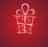 Priorità bassa della casella anno felice di nuovo di regalo e di natale Fotografia Stock Libera da Diritti