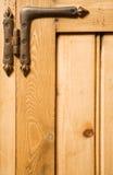 Priorità bassa della cerniera e di legno Fotografia Stock Libera da Diritti