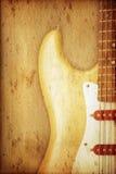 Priorità bassa della chitarra Fotografie Stock Libere da Diritti