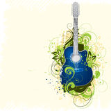 Priorità bassa della chitarra illustrazione di stock