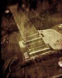 Priorità bassa della chitarra di struttura di Grunge Immagine Stock Libera da Diritti