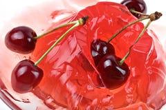 Priorità bassa della ciliegia della gelatina fotografie stock