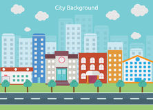 Priorità bassa della città royalty illustrazione gratis