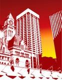 Priorità bassa della città di alto contrasto Immagini Stock