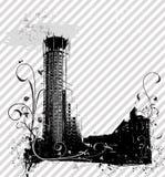 Priorità bassa della città di Grunge illustrazione di stock
