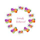 Priorità bassa della farfalla Buterflies astratti Immagini Stock