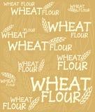 Priorità bassa della farina di frumento Fotografie Stock