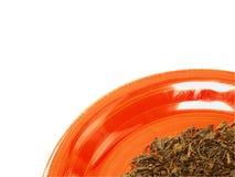 Priorità bassa della foglia di tè Fotografia Stock