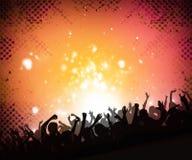 Priorità bassa della folla di musica Immagini Stock Libere da Diritti