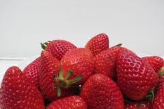Priorità bassa della frutta della fragola Fotografia Stock