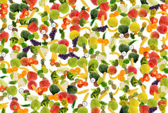 Priorità bassa della frutta e della verdura Immagini Stock Libere da Diritti