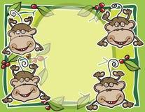 Priorità bassa della frutta e delle scimmie Immagine Stock
