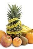 Priorità bassa della frutta fresca. Fotografia Stock