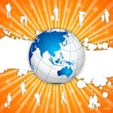 Fondo della gente di viaggio Fotografia Stock