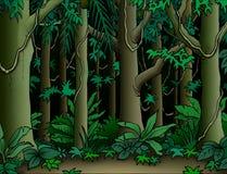 Priorità bassa della giungla illustrazione di stock