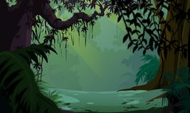 Priorità bassa della giungla - paesaggio piacevole Immagine Stock Libera da Diritti