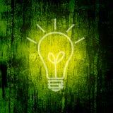 Priorità bassa della lampadina Fotografie Stock Libere da Diritti