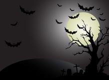 Priorità bassa della luna di Halloween Fotografia Stock