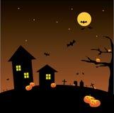 Priorità bassa della luna piena di Halloween Fotografia Stock Libera da Diritti