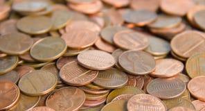 Priorità bassa della moneta Fotografia Stock Libera da Diritti