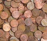 Priorità bassa della moneta Fotografie Stock Libere da Diritti