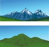 Priorità bassa della montagna Immagine Stock