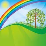 Priorità bassa della natura della primavera o di estate Immagini Stock Libere da Diritti