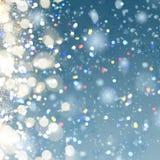 Priorità bassa della neve di natale Immagini Stock Libere da Diritti
