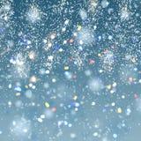 Priorità bassa della neve di natale Fotografia Stock Libera da Diritti