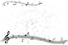 Priorità bassa della nota di musica Immagini Stock Libere da Diritti