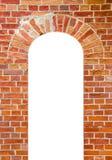 Priorità bassa della parete con il foro isolato della finestra Immagini Stock Libere da Diritti