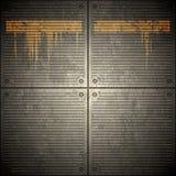 Priorità bassa della parete del metallo di Grunge royalty illustrazione gratis