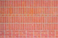 Priorità bassa della parete di mattoni rossi Fotografia Stock Libera da Diritti