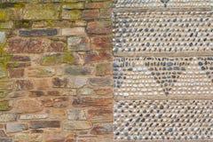 Priorità bassa della parete di pietra e del mattone Fotografia Stock Libera da Diritti