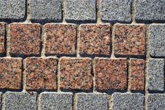 Priorità bassa della pavimentazione del blocchetto del granito Fotografie Stock