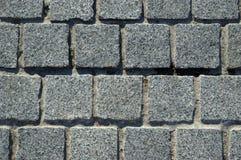 Priorità bassa della pavimentazione del blocchetto del granito Immagini Stock Libere da Diritti