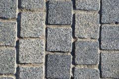 Priorità bassa della pavimentazione del blocchetto del granito Fotografia Stock