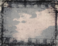 Priorità bassa della pellicola di Grunge illustrazione vettoriale