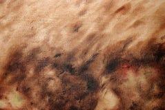 Priorità bassa della pittura a olio del Brown Fotografia Stock Libera da Diritti