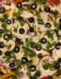 Priorità bassa della pizza Fotografia Stock